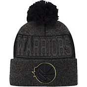 Mitchell & Ness Men's Golden State Warriors Pom Cuffed Knit Beanie