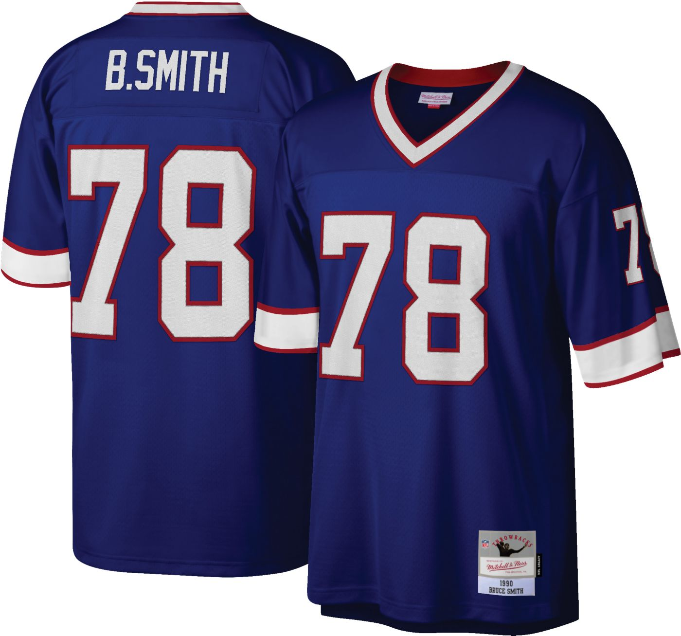 Mitchell & Ness Men's 1990 Game Jersey Buffalo Bills Bruce Smith #78