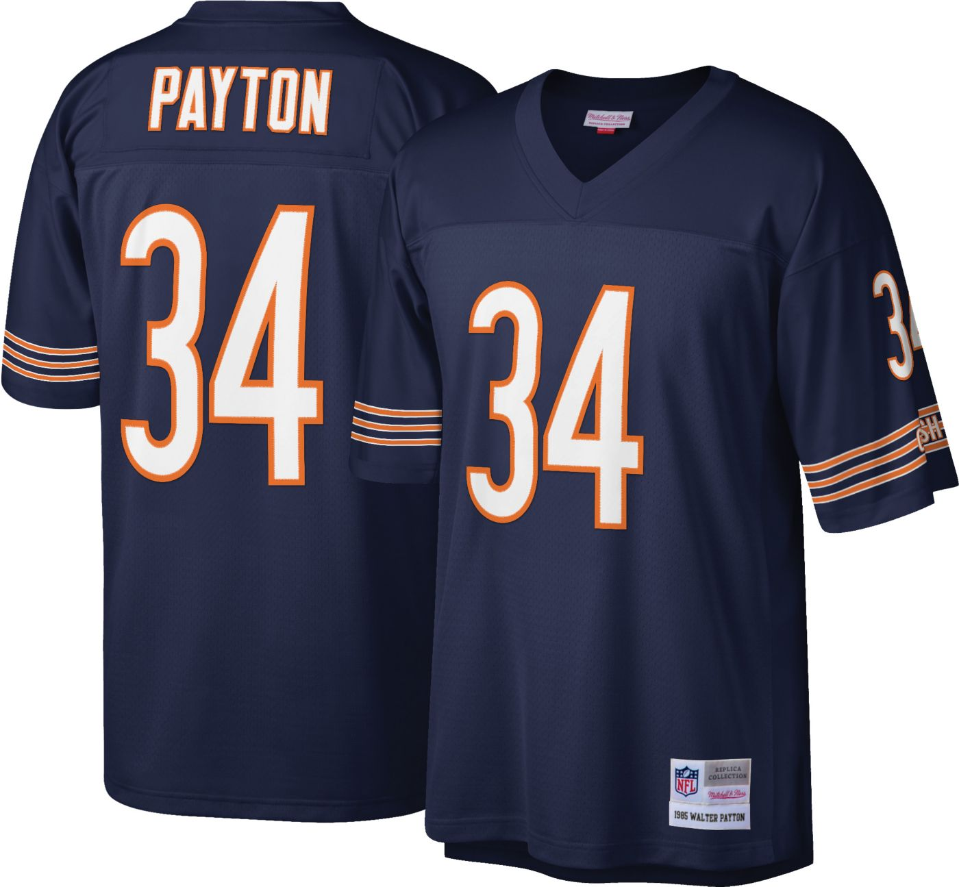 Mitchell & Ness Men's 1985 Game Jersey Chicago Bears Walter Payton #34