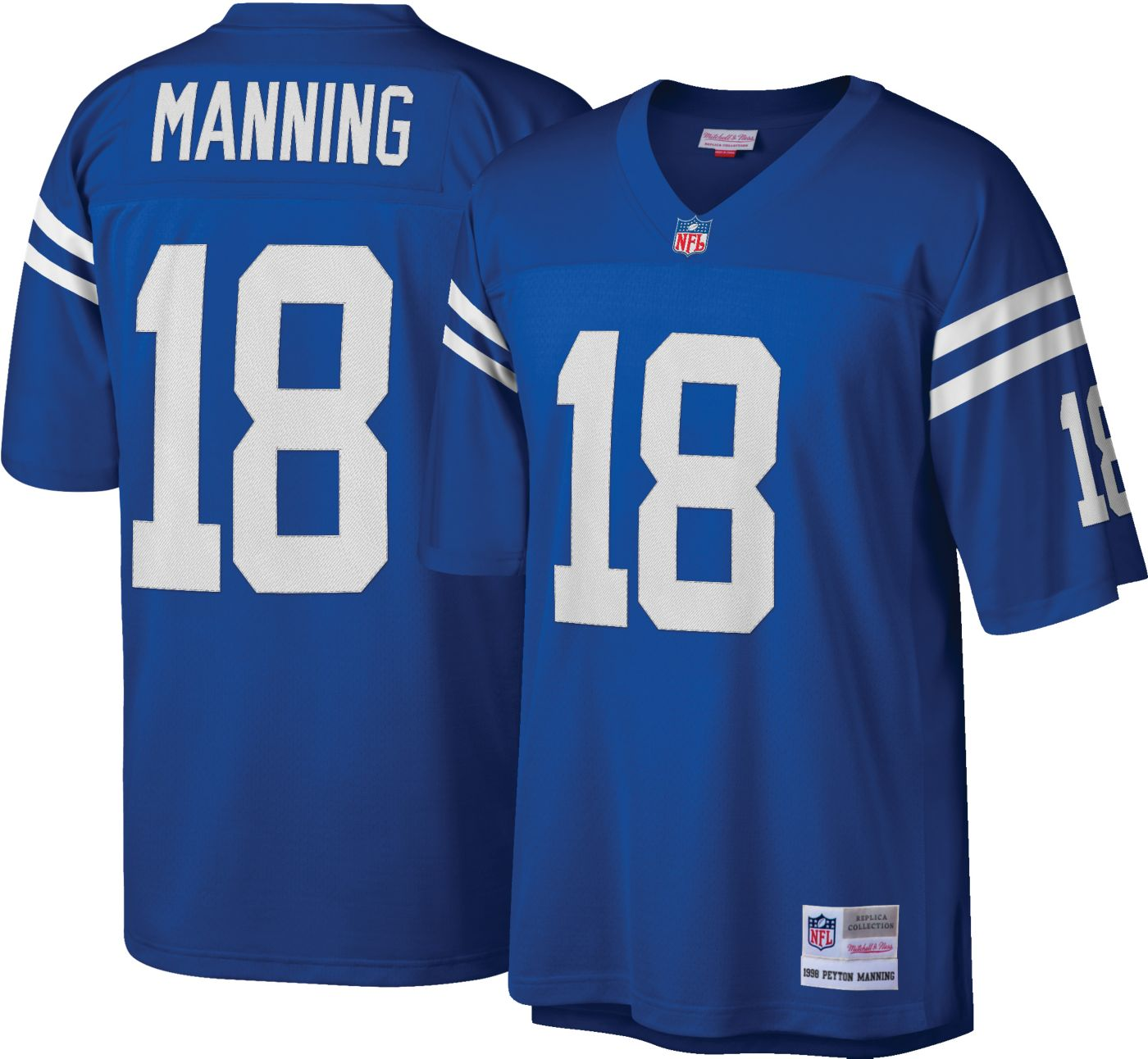 Mitchell & Ness Men's 1998 Game Jersey Indianapolis Colts Peyton Manning #18