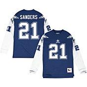 Mitchell & Ness Men's Dallas Cowboys Deion Sanders #21 Navy Long Sleeve Shirt