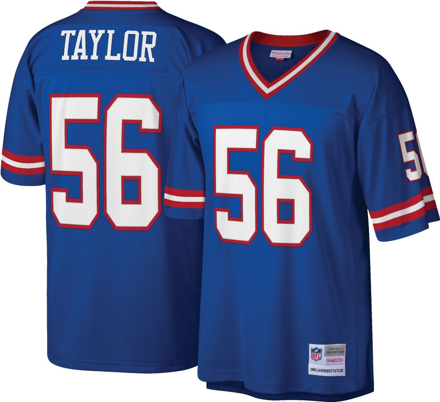 Mitchell & Ness Men's 1986 Game Jersey New York Giants Lawrence Taylor #56