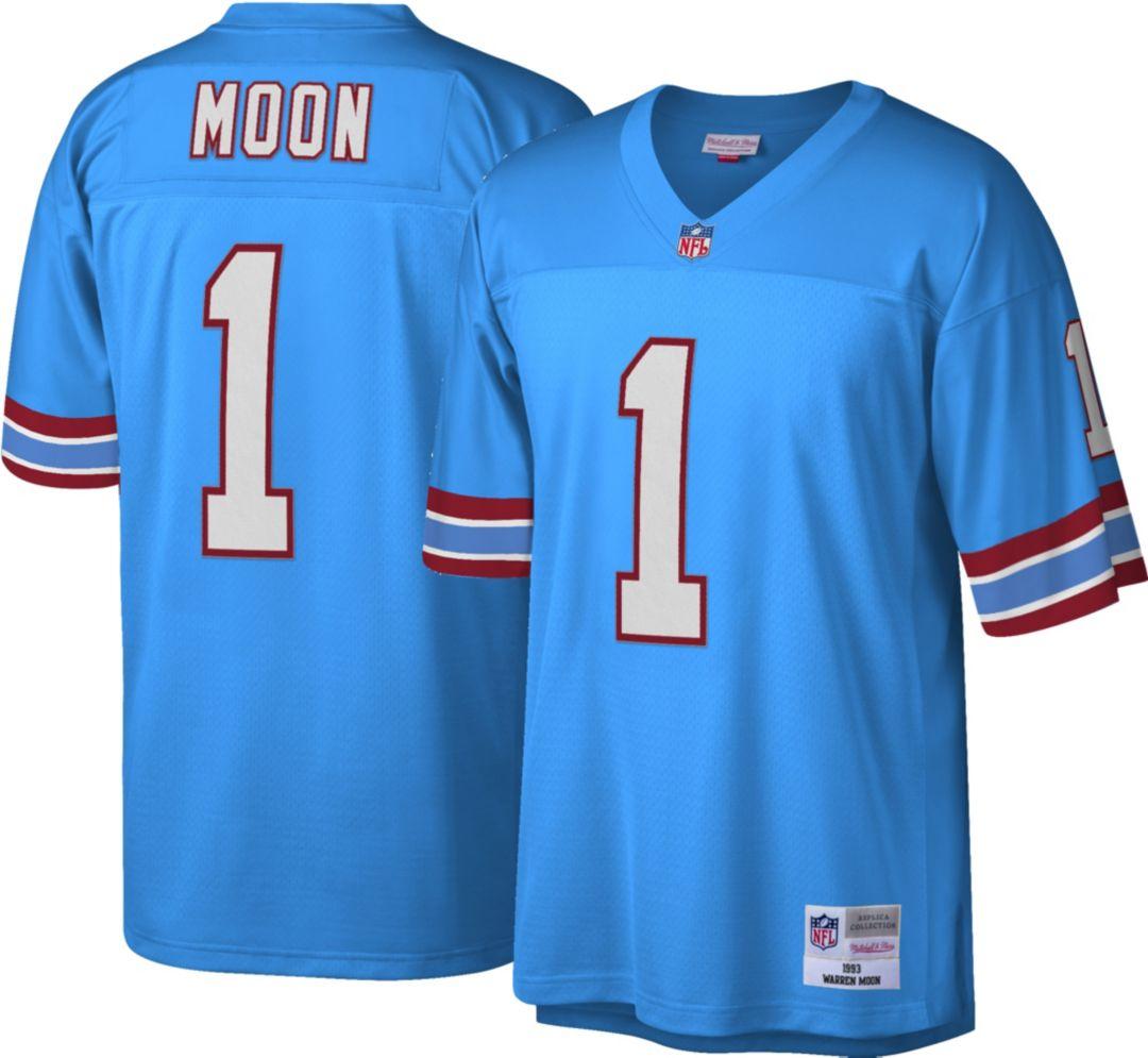 best website b6862 66b24 Mitchell & Ness Men's 1993 Home Game Jersey Houston Oilers Warren Moon #1