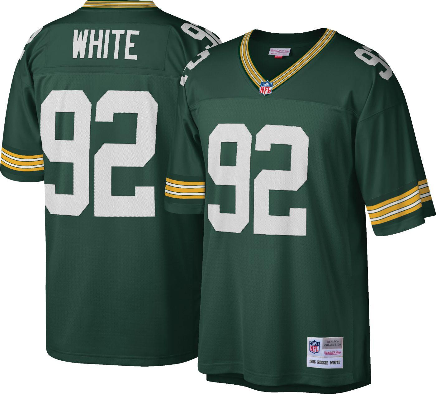 Mitchell & Ness Men's 1996 Game Jersey Green Bay Packers Reggie White #92