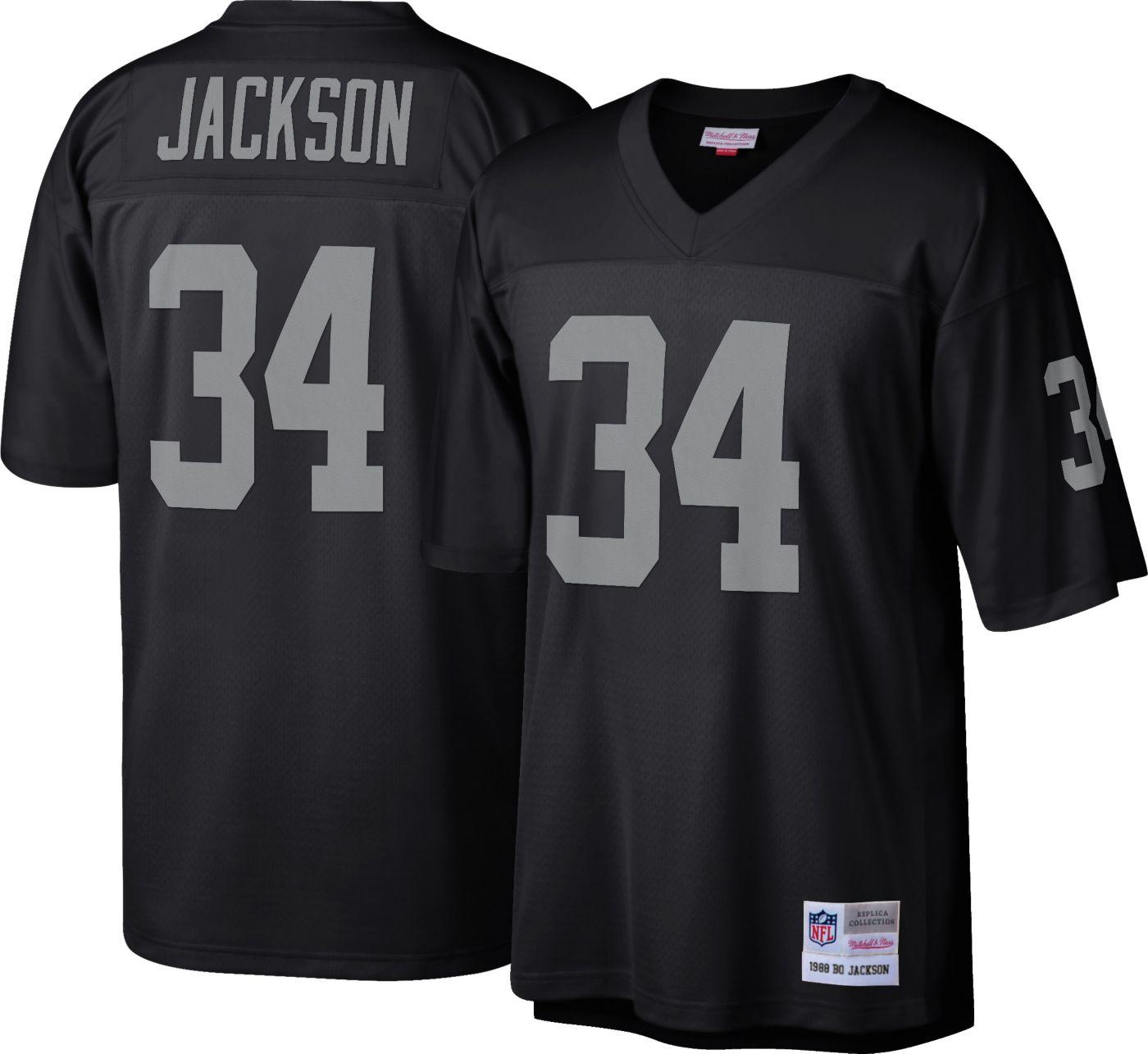 Mitchell & Ness Men's 1988 Game Jersey Oakland Raiders Bo Jackson #34