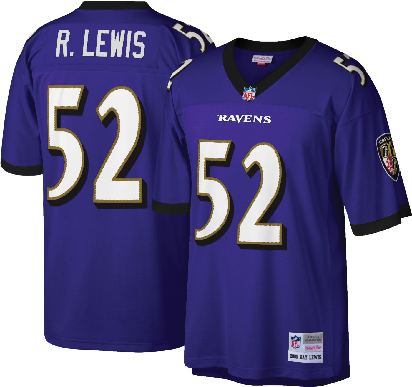 Mitchell & Ness Men's 2000 Game Jersey Baltimore Ravens Ray Lewis #52