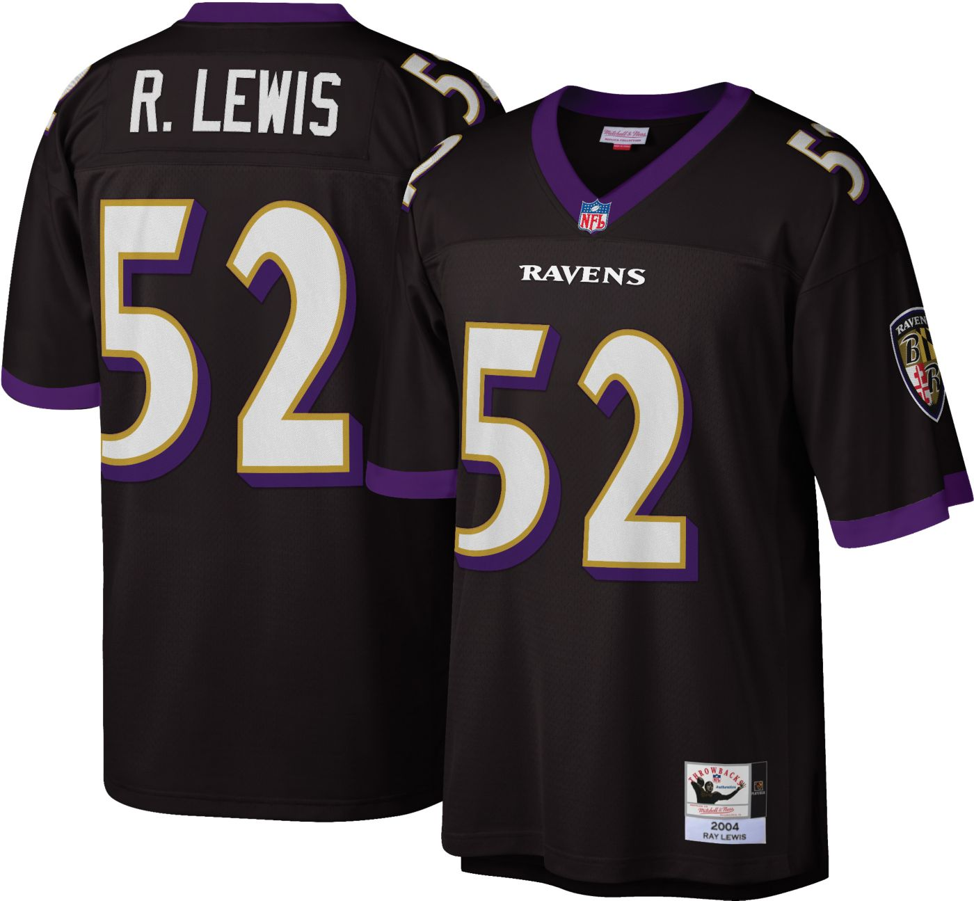 Mitchell & Ness Men's 2004 Game Jersey Baltimore Ravens Ray Lewis #52