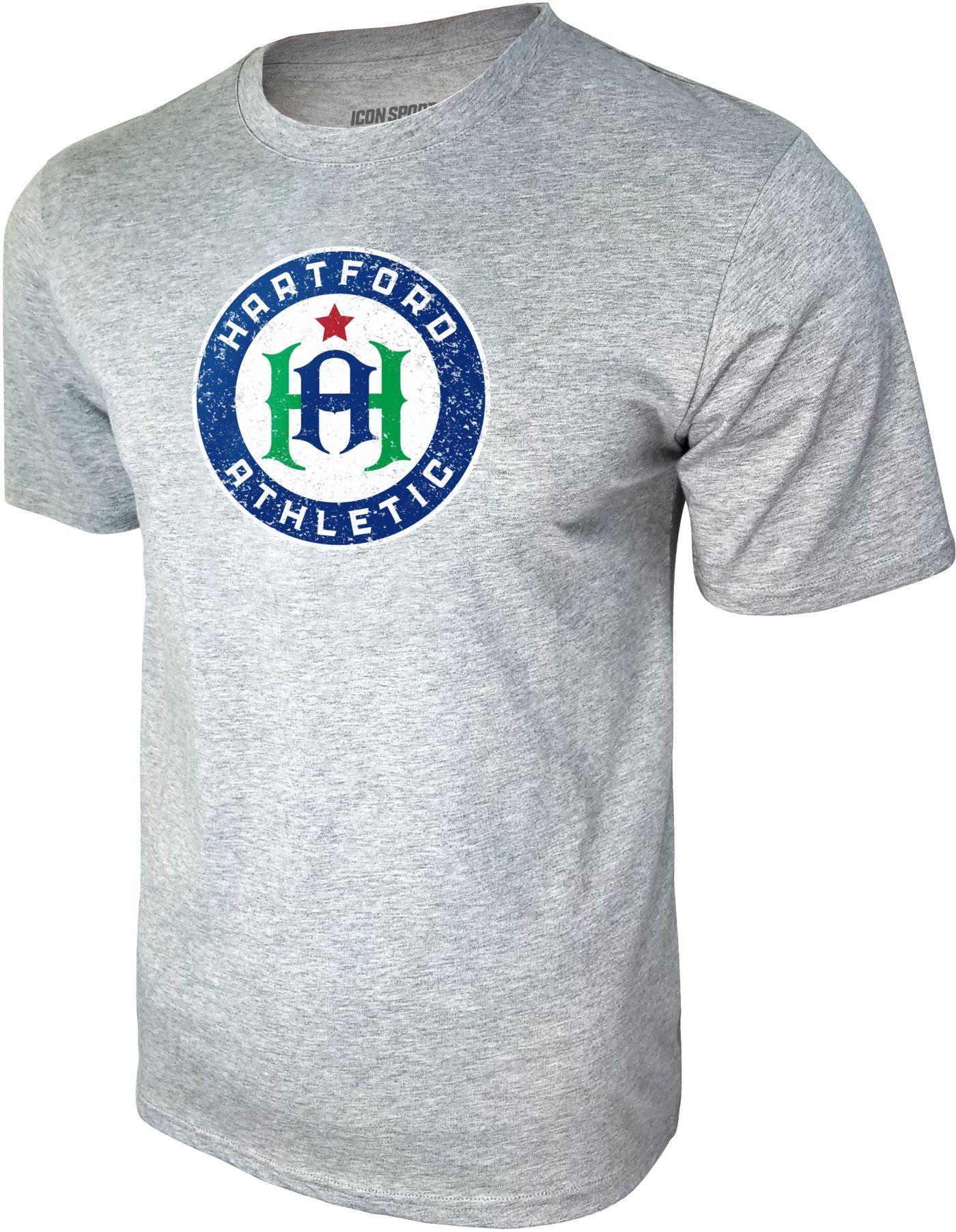 Icon Sports Group Men's Hartford Athletic Logo Heather Grey T-Shirt