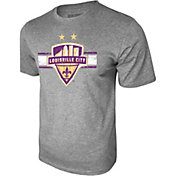 Icon Sports Group Men's Louisville City FC Logo Heather Grey T-Shirt