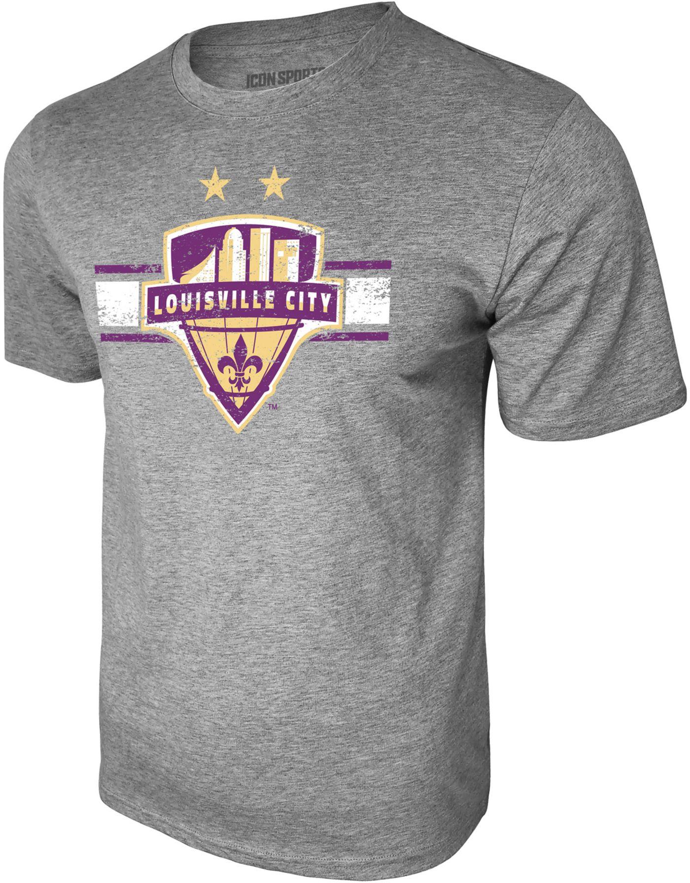 Icon Sports Group Men's Louisville City FC Logo Heather Grey T-Shirt