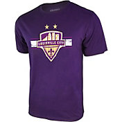 Icon Sports Group Men's Louisville City FC Logo Purple T-Shirt