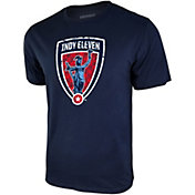 Icon Sports Group Men's Indy Eleven Logo Blue T-Shirt
