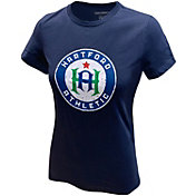 Icon Sports Group Women's Hartford Athletic Logo Navy T-Shirt