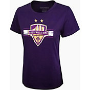 Icon Sports Group Women's Louisville City FC Logo Purple T-Shirt