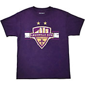 Icon Sports Group Youth Louisville City FC Logo Purple T-Shirt