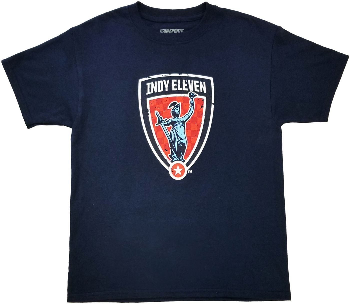 Icon Sports Group Youth Indy Eleven Logo Blue T-Shirt