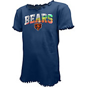 New Era Youth Girls' Chicago Bears Navy Flip Sequins T-Shirt
