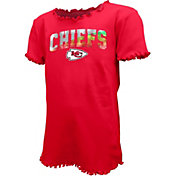 New Era Youth Girls' Kansas City Chiefs Flip Sequins T-Shirt