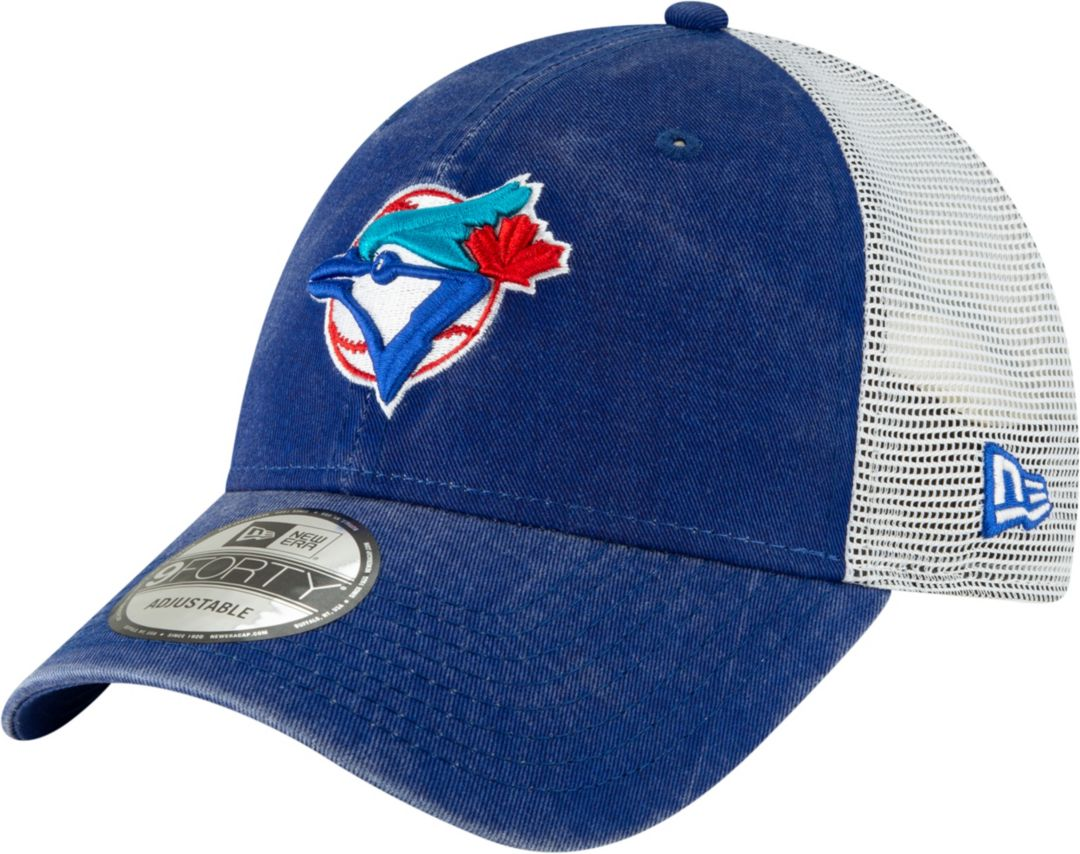 outlet store 388cb 411a4 New Era Men's Toronto Blue Jays 9Forty Cooperstown Trucker Adjustable Hat