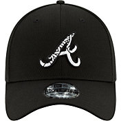 New Era Men's Atlanta Braves 39Thirty Black Batting Practice Stretch Fit Hat