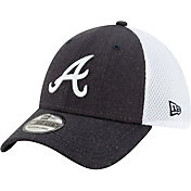 New Era Men's Atlanta Braves Navy 39Thirty Heather Neo Stretch Fit Hat