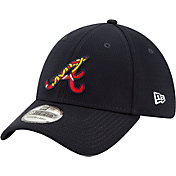New Era Men's Atlanta Braves 39Thirty Navy Batting Practice Stretch Fit Hat