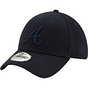 New Era Men's Atlanta Braves Navy 39Thirty Perftone Stretch Fit Hat