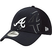 New Era Men's Atlanta Braves Navy 39Thirty Tonel Neo Stretch Fit Hat