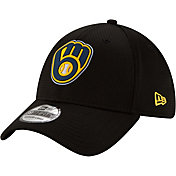 New Era Men's Milwaukee Brewers Black 39Thirty Clubhouse Stretch Fit Hat