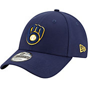 New Era Men's Milwaukee Brewers Navy 9Forty League Adjustable Hat