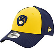 New Era Men's Milwaukee Brewers Yellow 9Forty League Adjustable Hat