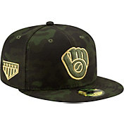 New Era Men's Milwaukee Brewers 59Fifty Armed Forces Fitted Hat