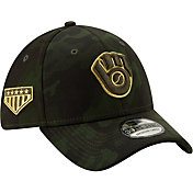 New Era Men's Milwaukee Brewers 39Thirty Armed Forces Stretch Fit Hat