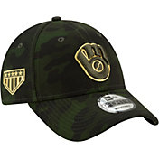 New Era Men's Milwaukee Brewers 9Forty Armed Forces Adjustable Hat