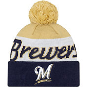New Era Men's Milwaukee Brewers Script Knit Hat
