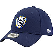 New Era Men's Milwaukee Brewers 39Thirty Navy Batting Practice Stretch Fit Hat