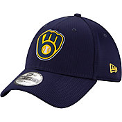 New Era Men's Milwaukee Brewers Navy 39Thirty Clubhouse Stretch Fit Hat