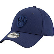 New Era Men's Milwaukee Brewers Navy 39Thirty Perftone Stretch Fit Hat