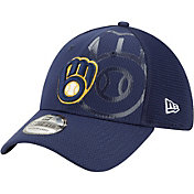 New Era Men's Milwaukee Brewers Navy 39Thirty Tonel Neo Stretch Fit Hat