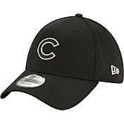 New Era Men's Chicago Cubs Black 39Thirty Clubhouse Stretch Fit Hat