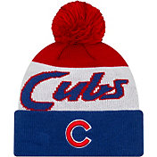 New Era Men's Chicago Cubs Script Knit Hat