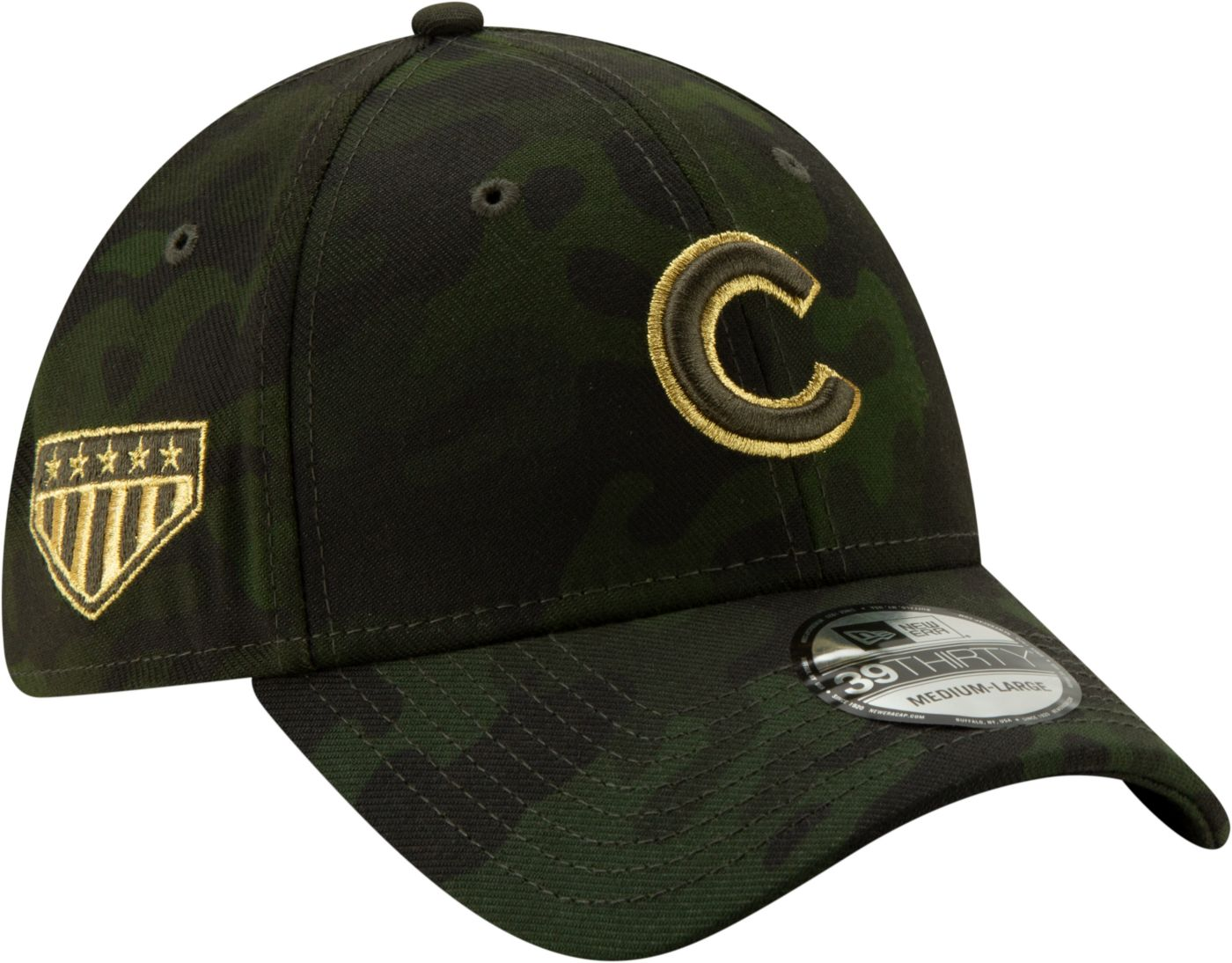 New Era Men's Chicago Cubs 39Thirty Armed Forces Stretch Fit Hat
