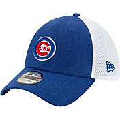 New Era Men's Chicago Cubs Blue 39Thirty Heather Neo Stretch Fit Hat