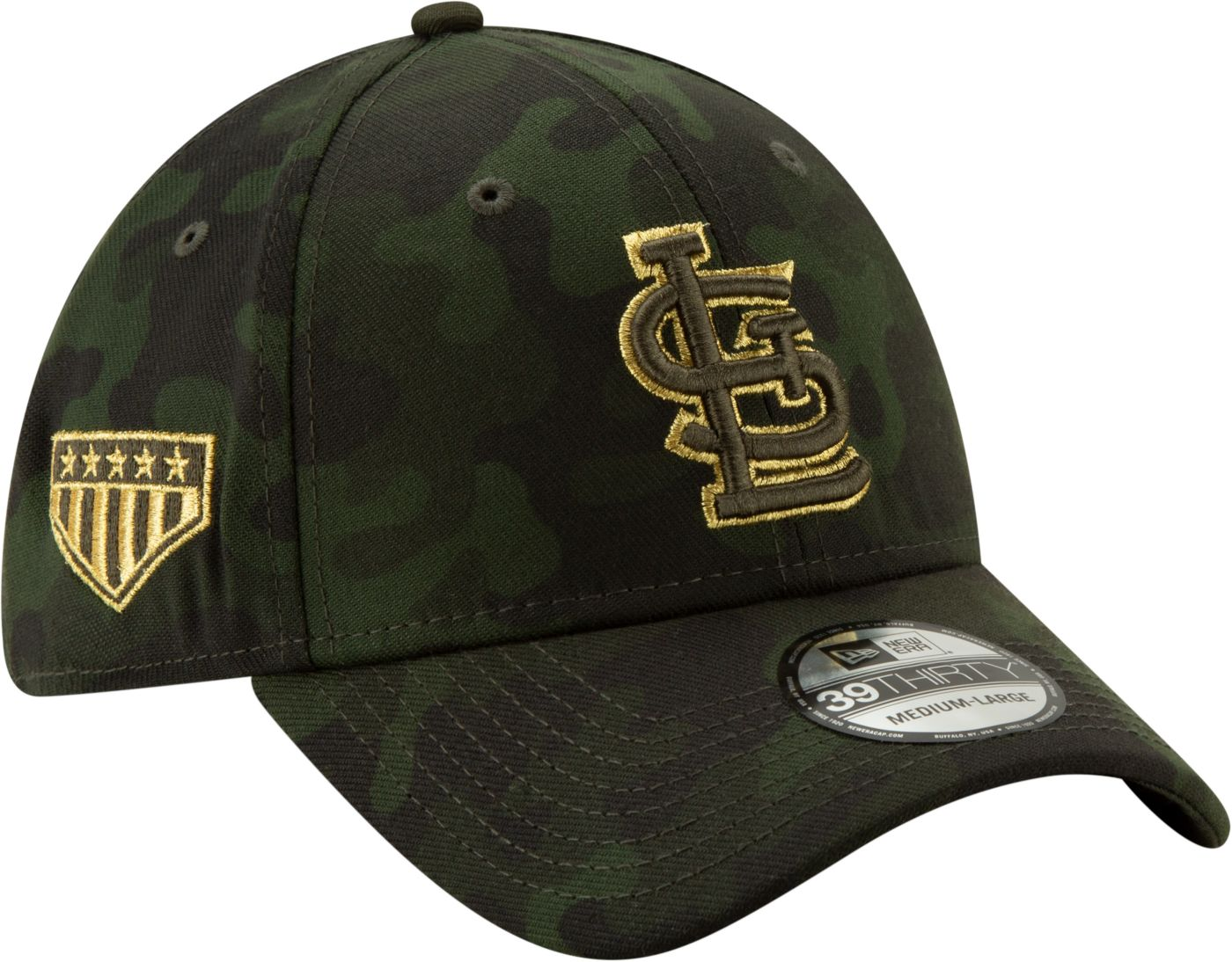 New Era Men's St. Louis Cardinals 39Thirty Armed Forces Stretch Fit Hat