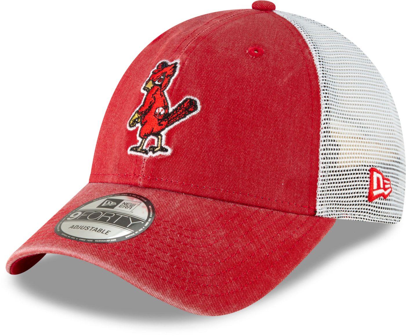 New Era Men's St. Louis Cardinals 9Forty Cooperstown Trucker Adjustable Hat