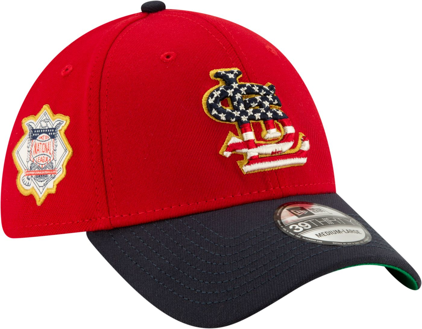 New Era Men's St. Louis Cardinals 39Thirty 2019 4th of July Stretch Fit Hat