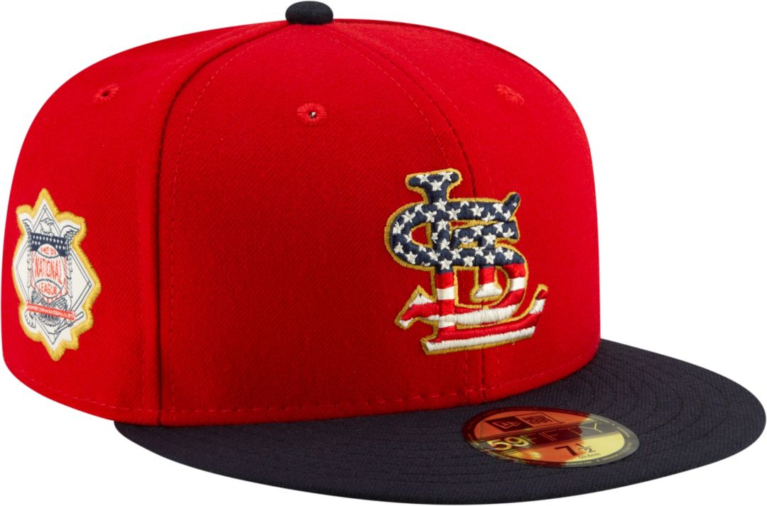 best cheap 4c4e8 815f6 New Era Men s St. Louis Cardinals 59Fifty 2019 4th of July Fitted Hat 1