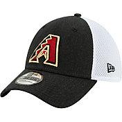 New Era Men's Arizona Diamondbacks Black 39Thirty Heather Neo Stretch Fit Hat