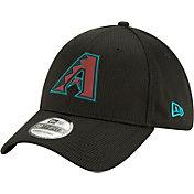 New Era Men's Arizona Diamondbacks Black 39Thirty Clubhouse Stretch Fit Hat