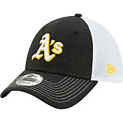 New Era Men's Oakland Athletics Black 39Thirty Heather Neo Stretch Fit Hat